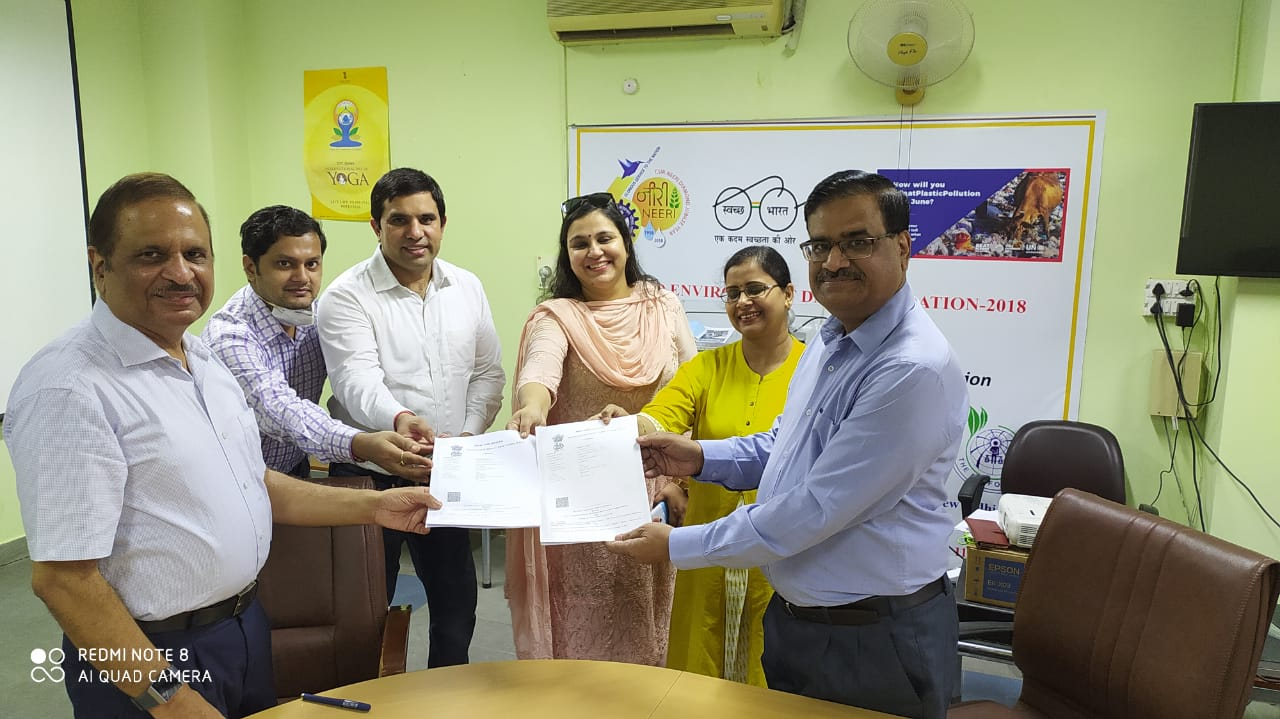 SIE and NEERI signed MoU for collaborative research work in field of Indoor Environmental Quality.